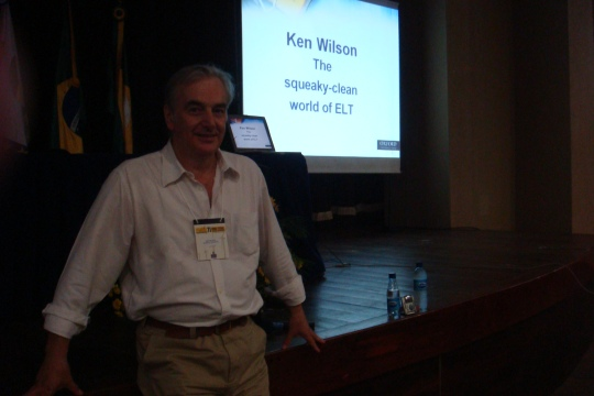 Before my plenary at BrazTESOL, Fortaleza, July 2008,