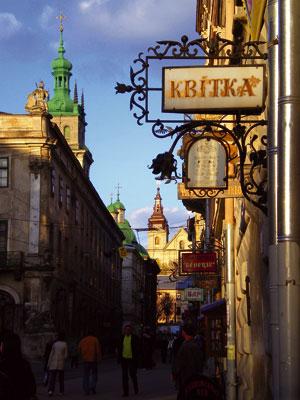 A street in Lviv in Western Ukraine