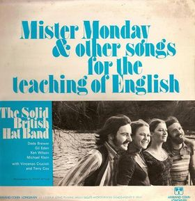 Mister Monday, my first ELT song collection, published by Longman when I was 23.