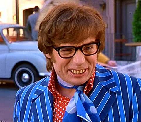 Mike Myers as Austin Powers in the spoof spy movie