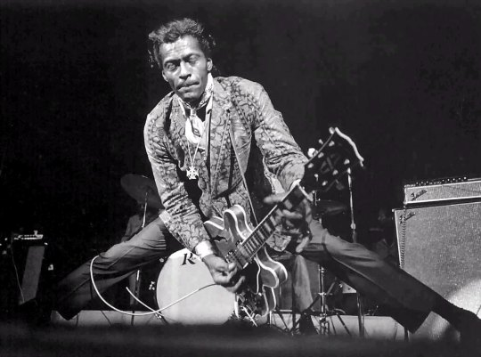 Chuck Berry - the biggest influence on my song-writing, as any English Teaching Theatre guitarist will testify, but a grave disappointment on stage...