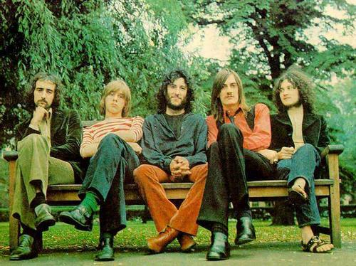 Fleetwood Mac, circa 1967: John McVie on left, then Green, Mick Fleetwood and Spencer on the right. Does anyone know who the blond guy second left is?