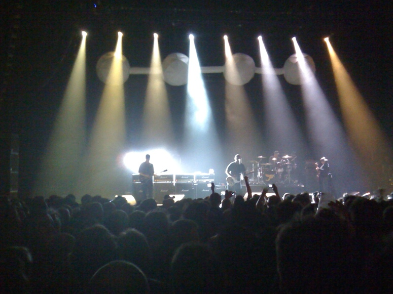 The Pixies on stage at Brixton Academy, October 9th 2009 (ie last night)