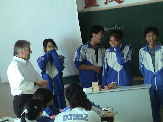 An impro activity with high school students in Beijing descends into memorable chaos...