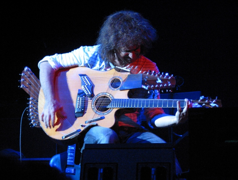 Pat Metheny with one of his purpose-built multi-instruments