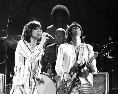 Although they have taken separate routes through life, Jagger and Richard still have astounding energy on stage.