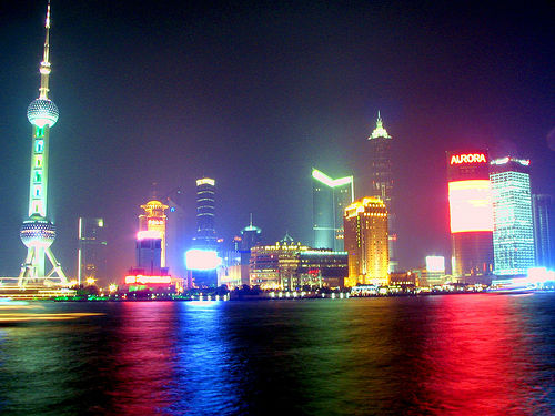 New shanghai directly across the river from the bund